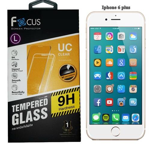 Focus โฟกัส ฟิล์มกระจกนิรภัย ฟิล์มกันรอยมือถือ Iphone 6 Plus ไอโฟน6 พลัส