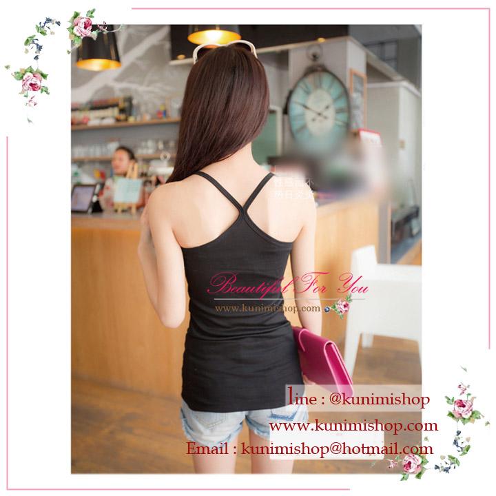 เสื้อกล้าม เสื้อซับในแบบเต็มตัว สายเดี่ยว ขนาด : รอบอกไม่เกิน 35 นิ้ว รอบเอว 29 นิ้ว เสื้อยาว 64 ซม. มี 2 สี : สีขาว สีดำ