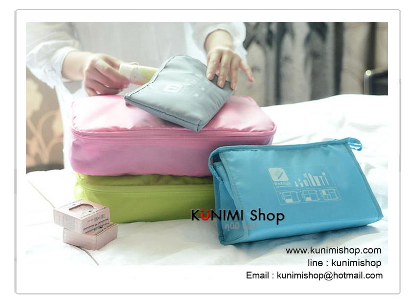 กระเป๋าจัดระเบียบ จัดเก็บเสื้อผ้าของใช้ต่างๆให้เป็นระเบียบ งานสวยคุณภาพคะ ช่วยให้กระเป๋าเดินทางเป็นระเบียบ หาของง่ายขึ้นคะ มีทั้งกระเป่าใส่เสื้อผ้า กระเป่าใส่เครื่องสำอางค์ กระเป๋าใส่รองเท้า กระเป่าใส่ชุดชั้นใน ถุงผ้าหูรูดใส่ของจุกจิกทั่วไป 1ชุด มี 5 ชิ้น