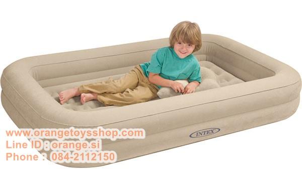 ที่นอนเป่าลมสำหรับเด็ก Intex (ฟรี Intex เครื่องเป่าลม แบบธรรมดา) Intex Kidz Travel Bed with Hand Pump/ INTEX 66810