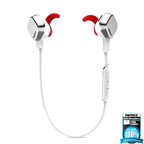 ฮฺิตมาก !! หูฟังพร้อมสมอลล์ทอล์คแบบบลูทูธ เหมาะกับการออกกำลังกาย รุ่น Headset Magnet Sports Bluetooth 4.1 RM-S2 สีขาว - Remax