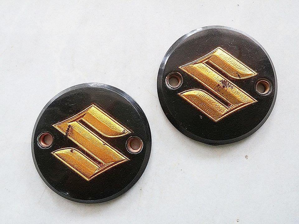 โลโก้ถังน้ำมัน K125-1 เรซิ่น ตัว S สีทอง แท้