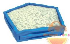 กระบะทรายห้าเหลี่ยม ขนาดใหญ่ ขนาด ขนาด 240 x 250 x 40 cm.