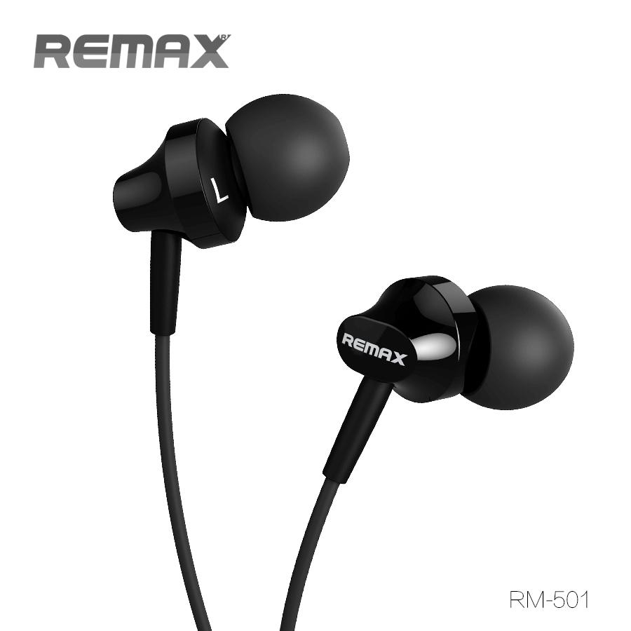 หูฟังพร้อมสมอลล์ทอล์ค นำ้หนักเบา เสียงนุ่ม ใช้ได้กับมือถือทุกระบบ รุ่น remax Small Talk 501 สีดำ
