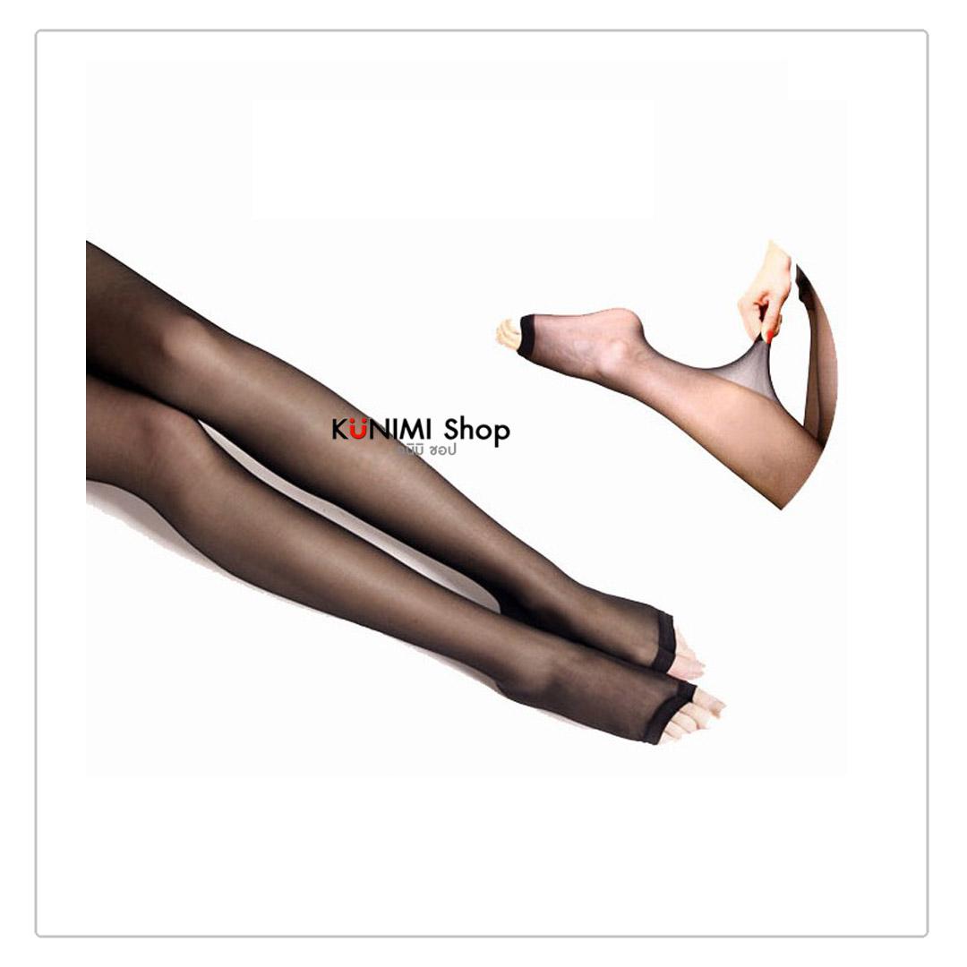 ถุงน่องแบบเต็มตัว ช่วงปลายเท้าเปลือย ทำให้เวลาใส่รองเท้าเปิดหัวเท้าจะไม่เห็นถุงน่องคะ ขนาด : FREE SIZE มี 2 สี : สีเนื้อ สีดำ