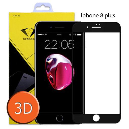 ฟิล์มกระจกเต็มจอ IPhone8 Plus 3D ขอบ Carbon fiber สีดำ (ไอโฟน8พลัส)