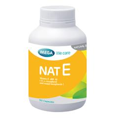 NAT E (30 แคปซูล) Mixed tocopherols วิตามินอีรวมจากธรรมชาติ
