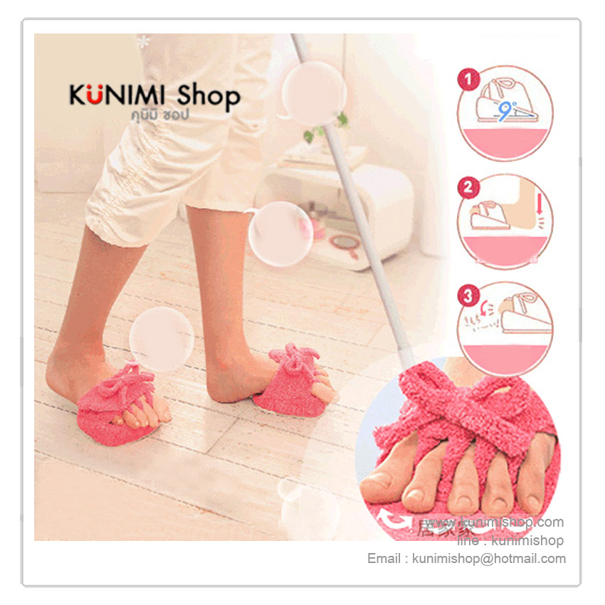 รองเท้าแตะครึ่งซีก ช่วยให้เท้า ต้นขา ผ่อนคลาย ลดการเมื่อยล้าจากการใส่รองเท้าส้นสูง ใส่วันละ 2-3 ครั้ง ครั้งละ 5-10 นาที ขนาดกระทัดรัด สามารถพกพาไปในที่ต่างๆได้