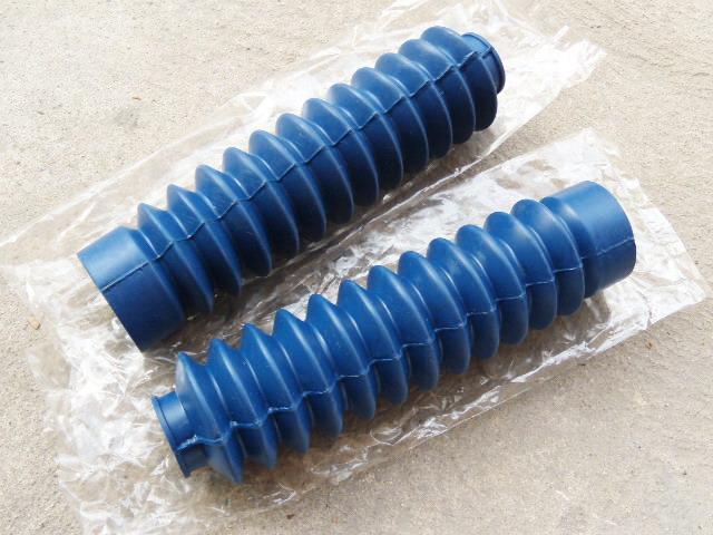 ยางหุ้มโช๊ค TS100 TS125 TS185 สีฟ้า เทียม งานใหม่