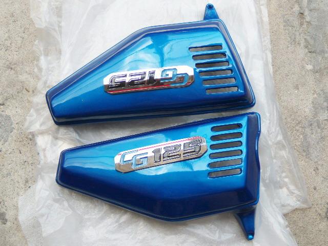 ฝากระเป๋า CG110 สีน้ำเงิน เทียม งานใหม่