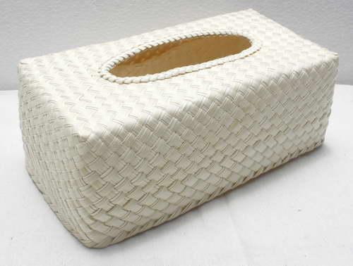 ชิ้นงานดิบ ใบลาน ทำ Decoupage งานเพนท์ กล่องใส่ทิชชูแบบกล่อง