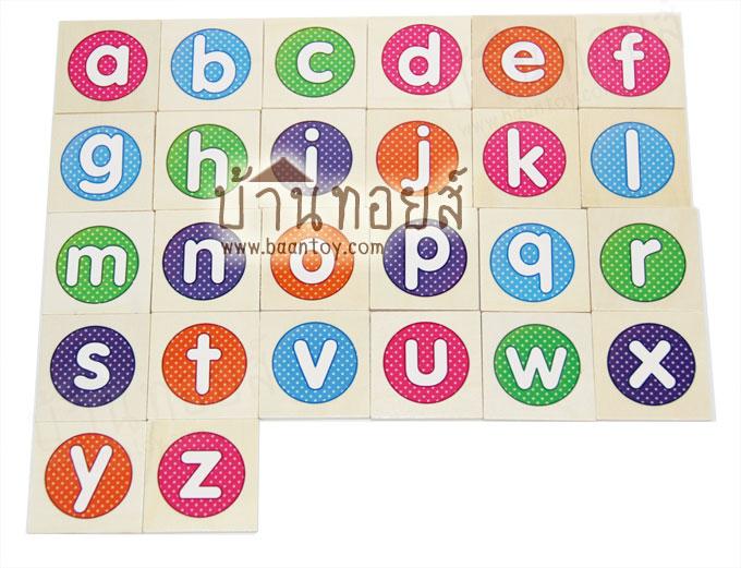 บล๊อกไม้ตัวอักษรภาษาอังกฤษ ABC รูปภาพคำศัพท์ ตัวเลข และเครื่องหมายทางคณิตศาสตร์ 105 ชิ้น