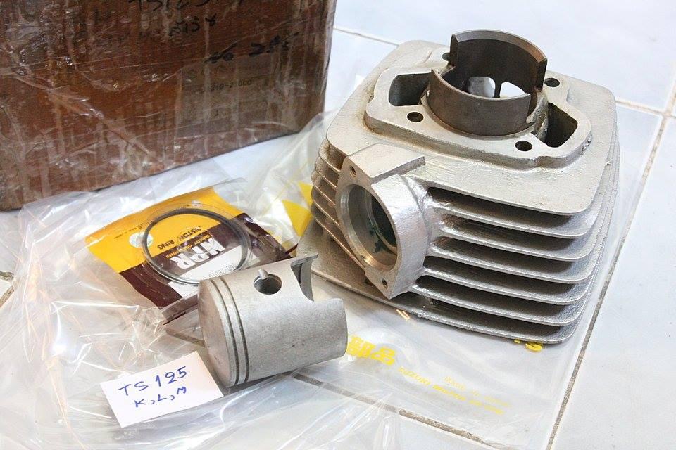 เสื้อสูบ + ลูกสูบ + แหวน Suzuki TS125 K-L-M