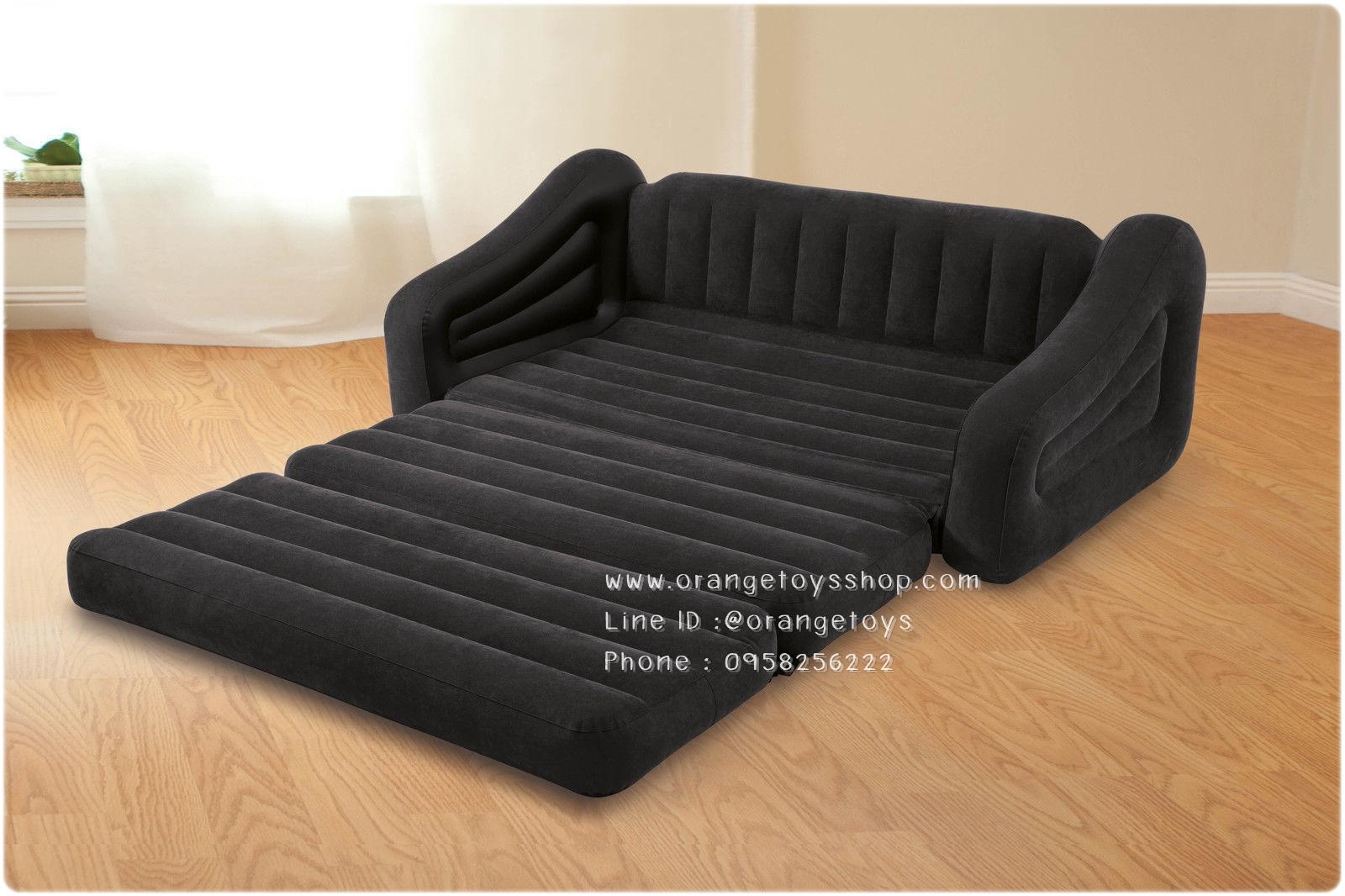 Intex 68566NP โซฟาที่นอน Sofa Bed เป่าลม ขนาดควีนไซส์ (ฟรี Intex เครื่องเป่าลม แบบธรรมดา)