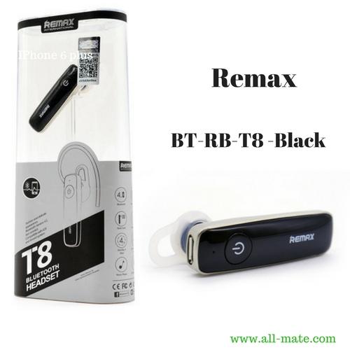 Remax หูฟังแบบ Small Talk สีดำ-ทอง รุ่น BT-RB-T8 ใช้ได้นานไม่เจ็บหู