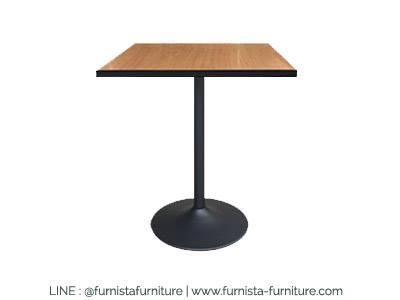โต๊ะขาแชมเปญ ลายบีชขอบดำ สำหรับแต่งร้านกาแฟ คาเฟ่ ร้านบิงซู