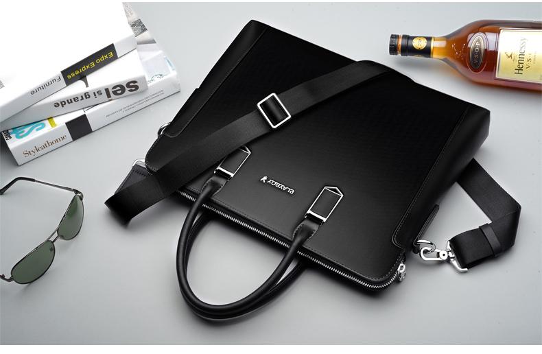 กระเป๋าสะพายนักธุรกิจพีวีซี สะพาย Playboy-Black