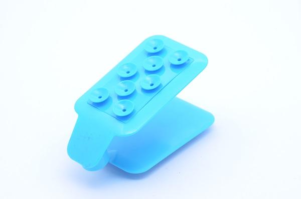 แท่นตัวดูดโทรศัพท์ แบบปรับวางโทรศัพท์มือถือได้ น่ารัก เก๋ๆ - สีฟ้า
