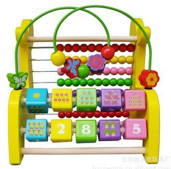 ของเล่นไม้เสริมพัฒนาการ ยีราฟไม้ลูกคิด 3in1 (ลูกคิด, ขดลวดลูกปัดไม้ และรางตัวเลข)