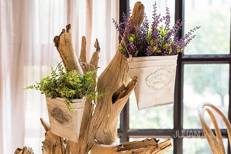 Pre-Order ตระกร้า ที่ใส่จดหมาย ดอกไม้ แขวนผนัง ปั้มพื้นผิวนูน ทำสีเก่า มี 3 ขนาด Zakka