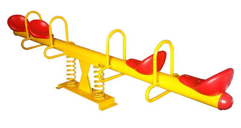 ไม้กระดกสปริง 4 ที่นั่ง SIZE:45X290X85 cm.