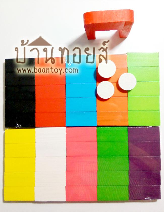 ของเล่นไม้ บล็อกไม้ โดมิโนสี 100 ชิ้น ของเล่นที่จะส่งเสริมพัฒนาการ ความคิด วิเคราะห์อย่างเป็นระบบ จินตนาการในการสร้างสรรค์ต่อเรียงโดมิโน่สีสันต่างๆ ซึ่่งเป็นบล็อคไม้จำนวน 100 ชิ้น ให้เป็นรูปทรงรูปร่าง และสมาธิ ระมัดระวังไม่ให้โดมิดน่ล้มก่อนที่ผลงานจะเสร็จสมบูรณ์
