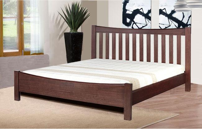 เตียงนอนไม้ 5 ฟุต สไตล์โมเดิร์น สำหรับโรงแรม รีสอร์ท คอนโด (R-SERIES)