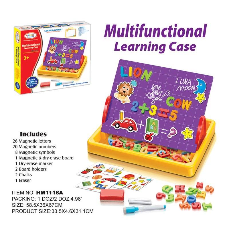 กระดานแม่เหล็ก First Classroom - Multifunctional Learning Case (ABC+123) HM1118A
