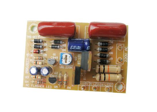โครงงาน 5 (วงจรไฟกระพริบ 2 ช่อง ใช้ไฟ AC 220V)