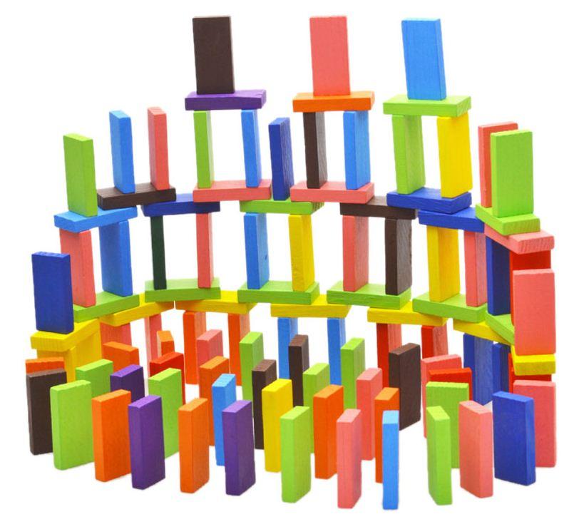 ของเล่นไม้ บล็อกไม้โดมิโน ของเล่นเสริมทักษะ จินตนาการ สมาธิในการต่อเรียง