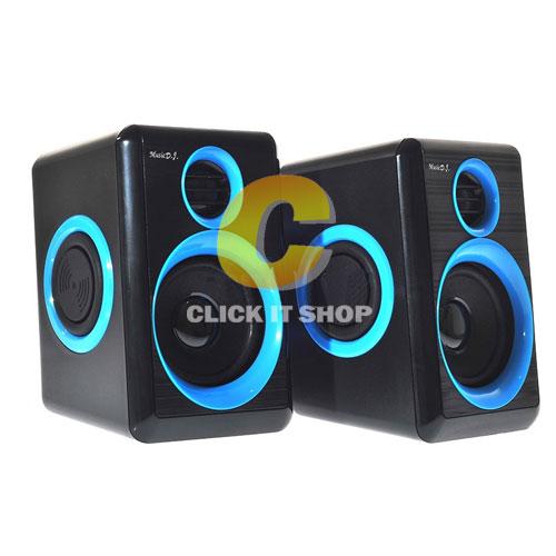 ลำโพง Music D.J. (DJ-268) Black-Blue