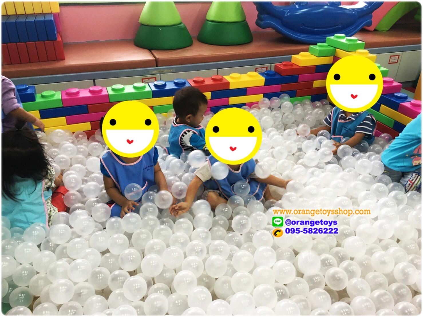 """(ลูกบอล บอลนิ่ม) (285) บอลนิ่ม ลูกบอล ขนาด 3"""" ลูกบอลใส Snow Ball Antibacterial จำนวน 285 ลูก"""