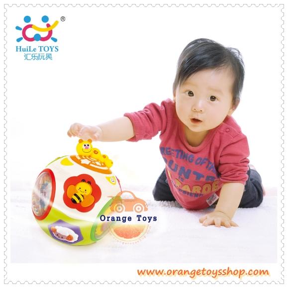 Huile Toys ลูกบอลกลิ้ง ผึ้งน้อย ของเล่นเด็กอ่อน