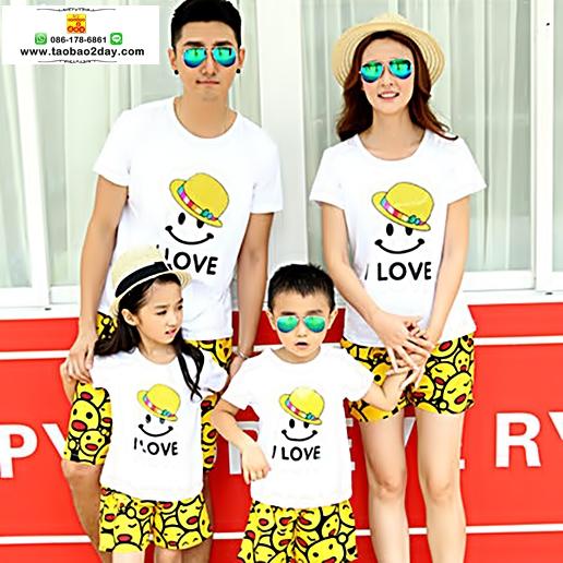 ชุดคู่รัก เสื้อยืดคู่รัก คู่รักแม่ลูก คู่รักครอบครัว