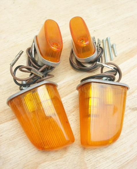 ชุดไฟเลี้ยว หน้า+หลัง C100 C102 สีส้ม เทียม งานใหม่