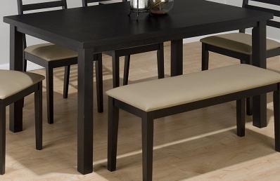 โต๊ะขาเหลี่ยมพร้อมเก้าอี้ม้านั่งเบาะนุ่มนั่งสบาย สีโอ๊ค (สั่งทำ 10 ชุดขึ้นไป)