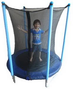 แทรมโพลีน Trampoline 4.6 ฟุต (1.4 เมตร) สีฟ้า