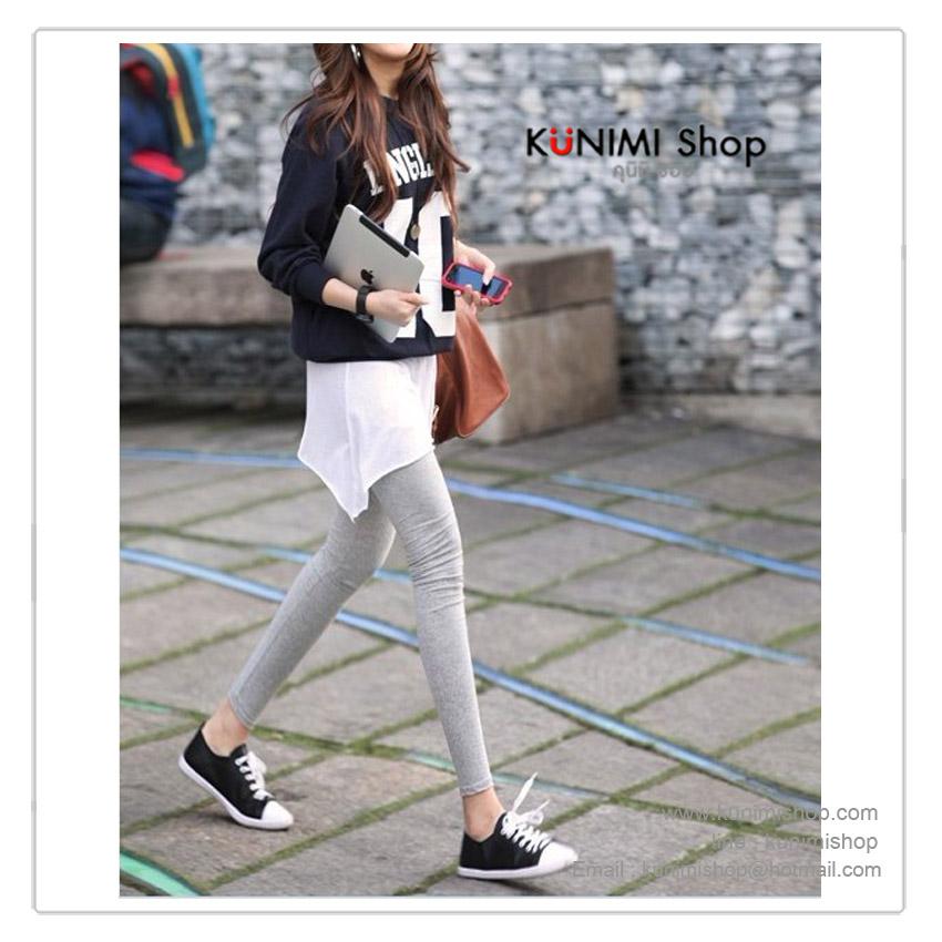 LG028 กางเกงเลคกิ้ง ขายาว เอวยางยืด มี 3 สี สีดำ สีเทาอ่อน สีเทาเข้ม ผ้ายืด ใส่สบาย