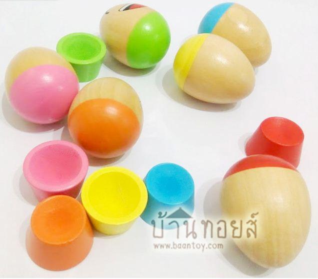 ไข่ไม้เรียงซ้อนบอกอารมณ์ ของเล่นไม้ ของเล่นเสริมพัฒนาการเด็ก