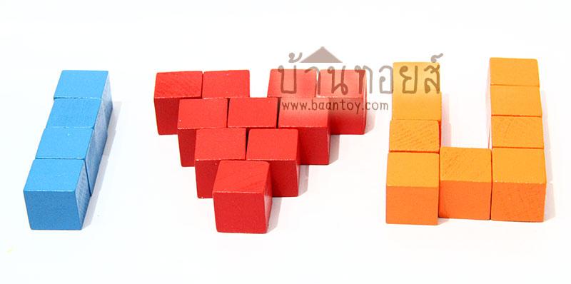 บล็อกไม้รูปทรงลูกบาศก์ ลูกเต๋าสี 100 ชิ้น 6 สี เสริมความเข้าใจด้านการนับเลข อนุกรม มิติสัมพันธ์ ช่วยเตรียมความพร้อมสอบเข้าโรงเรียนแนวสาธิต