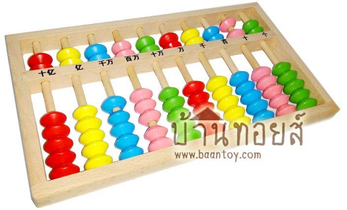 ลูกคิดจีน ลูกคิดเด็ก ลูกคิดไม้สอนเลข สำหรับฝึกหัด เรียนรู้ คำนวน โดยใช้ลูกคิด