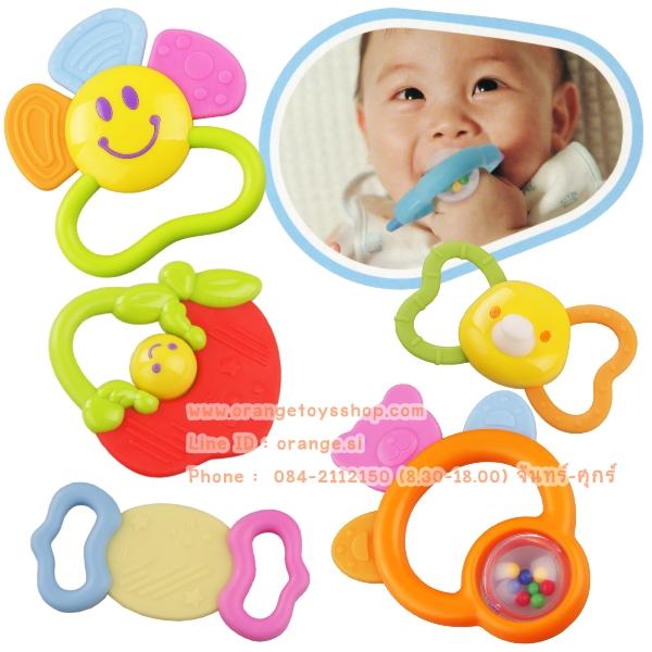 Huile Toys ของเล่นเด็กอ่อน เขย่ามือสำหรับเด็ก ยางกัด Huile(919)