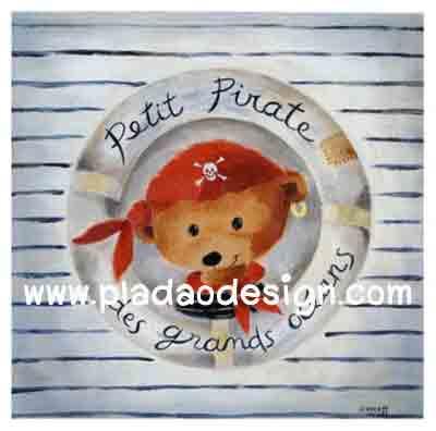 กระดาษสาพิมพ์ลาย rice paper เป็น กระดาษสา สำหรับทำงาน เดคูพาจ Decoupage แนวภาพ จอมโจรสลัดน้อยน้องหมี เท็ดดี้ แบร์ teddy bear น่ารักอย่างนี้ใครๆก็รัก (ปลาดาว ดีไซน์)