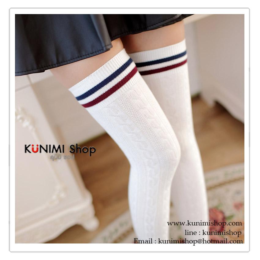 ถุงเท้ายาว ครึ่งน่องบน จะใส่แบบยาว หรือจะใส่แบบสั้นก็สวยน่ารักคะ มี 3 สี : สีขาว สีดำ สีแดงเลือดหมู ขนาด Free Size ความยาวถุงเท้าก่อนยืด 23 cm.