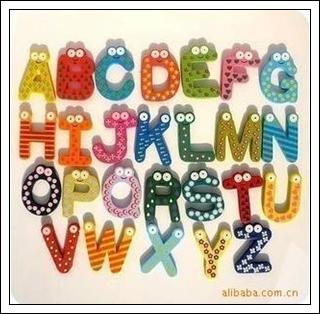 ตัวอักษรแม่เหล็กแฟนซี A-Z
