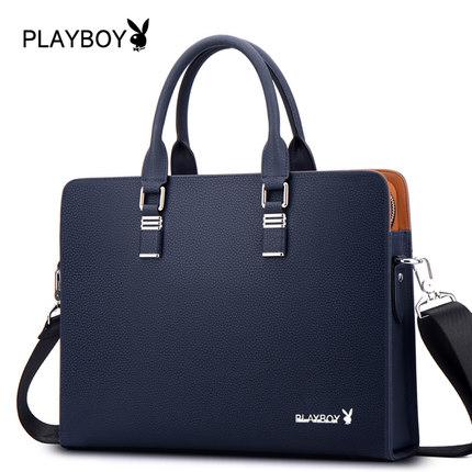 Playboy กระเป๋าสะพายธุรกิจ กระเป๋าหนังหนังแพคเกจแนวทแยงกระเป๋ากระเป๋าถือกระเป๋า