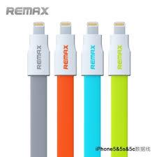 Remax สายชาร์จไอโฟน 5/5s/5C สีเทา สายแบนยาว 90cm.