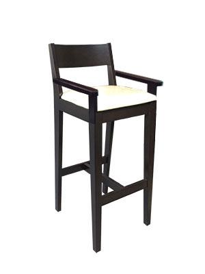 เก้าอี้บาร์สูงมีที่วางแขน สำหรับนั่งกับเคาน์เตอร์บาร์ ผับ ร้านอาหาร (PRE-ORDER)