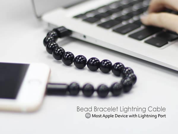 สายชาร์จมือถือทุกรุ่น สำหรับ Android แบบ USB สร้อยข้อมือสีดำ