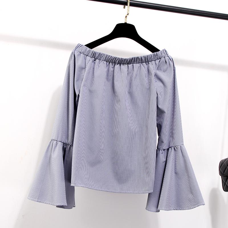 เสื้อเซิ้ตลายพรางโชว์ไหล่ แฟชั่น เกาหลี KJ004
